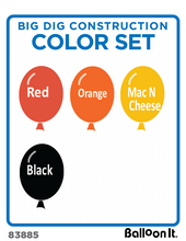 Load image into Gallery viewer, Big Dig Construction Balloon It Bunch. All-in-one complete DIY Kit (1) - Balloon It