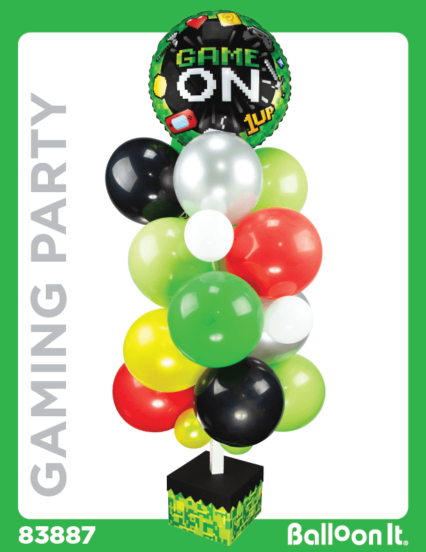Game On Balloon It Bunch. All-in-one Complete DIY Kit (1) - Balloon It