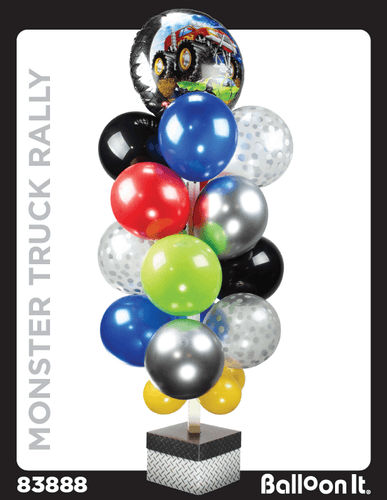 Monster Truck Rally Balloon It Bunch. All-in-one complete DIY Kit (1) - Balloon It