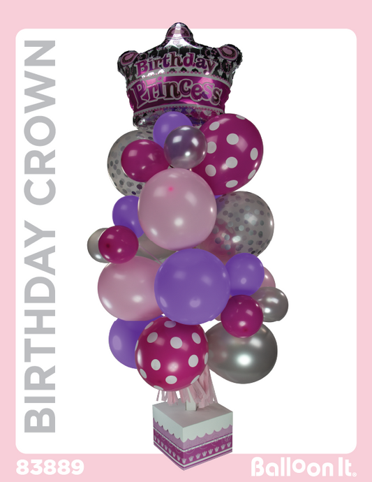 Birthday Crown Balloon It Bunch. All-in-one complete DIY Kit (1) - Balloon It