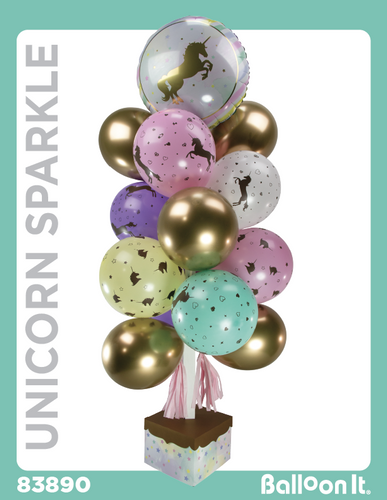 Unicorn Sparkle Balloon It Bunch. All-in-one complete DIY Kit (1) - Balloon It