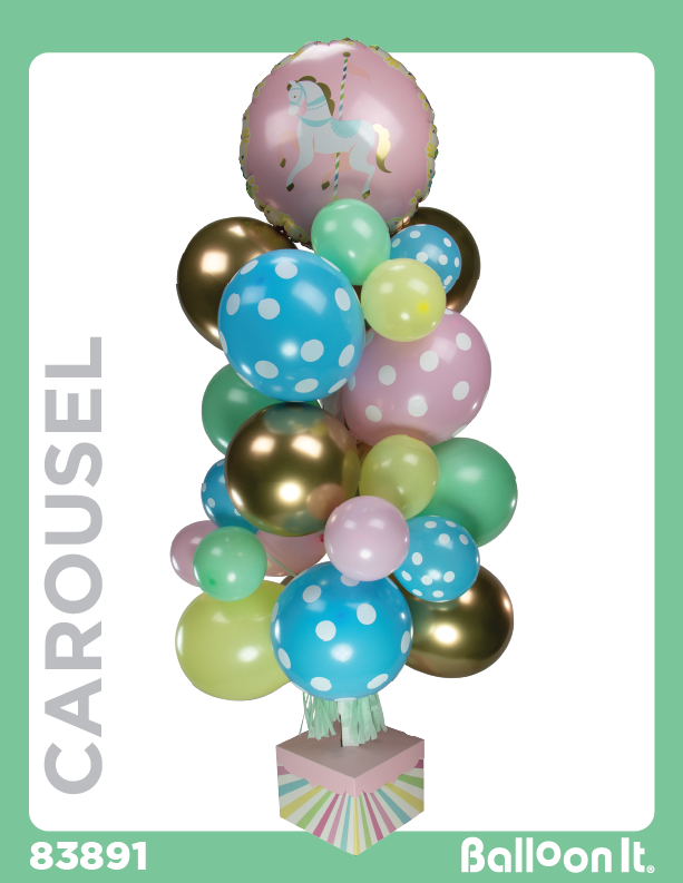 Carousel Balloon It Bunch. All-in-one complete DIY Kit (1) - Balloon It