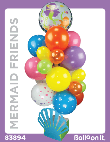 Mermaid Friends Balloon It Bunch. All-in-one complete DIY Kit (1) - Balloon It