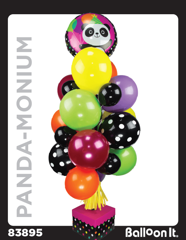 Panda-Monium Balloon It Bunch. All-in-one complete DIY Kit (1) - Balloon It