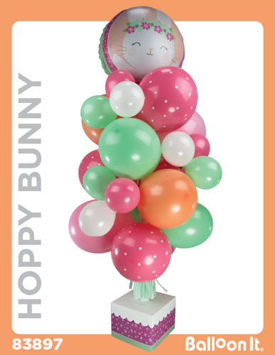 Hoppy Bunny Balloon It Bunch. All-in-one complete DIY Kit (1) - Balloon It