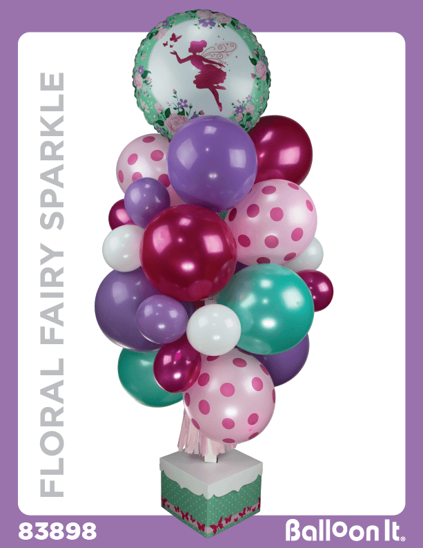 Floral Fairy Sparkle Balloon It Bunch. All-in-one complete DIY Kit (1) - Balloon It