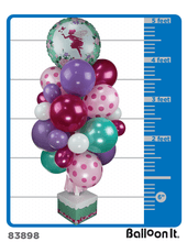 Load image into Gallery viewer, Floral Fairy Sparkle Balloon It Bunch. All-in-one complete DIY Kit (1) - Balloon It
