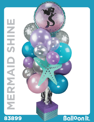 Mermaid Shine Balloon It Bunch. All-in-one complete DIY Kit (1) - Balloon It