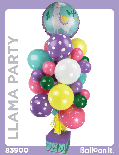 Llama Party Balloon It Bunch. All-in-one complete DIY Kit (1) - Balloon It