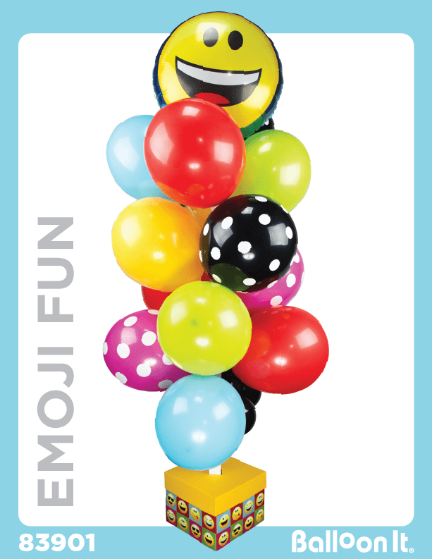 Emoji Fun Balloon It Bunch. All-in-one complete DIY Kit (1) - Balloon It