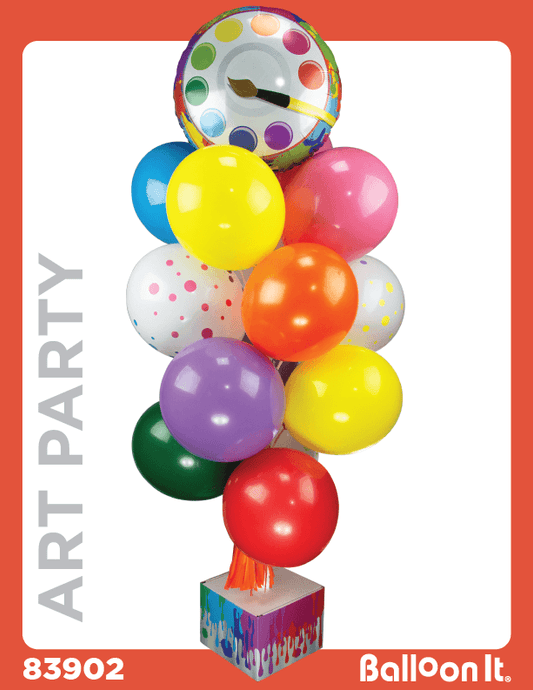 Art Party Balloon It Bunch. All-in-one Complete DIY Kit (1) - Balloon It