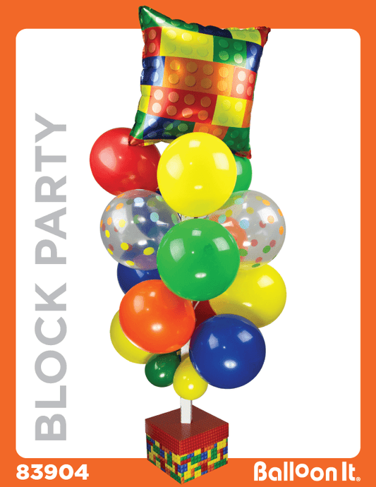 Block Party Balloon It Bunch. All-in-one complete DIY Kit (1) - Balloon It