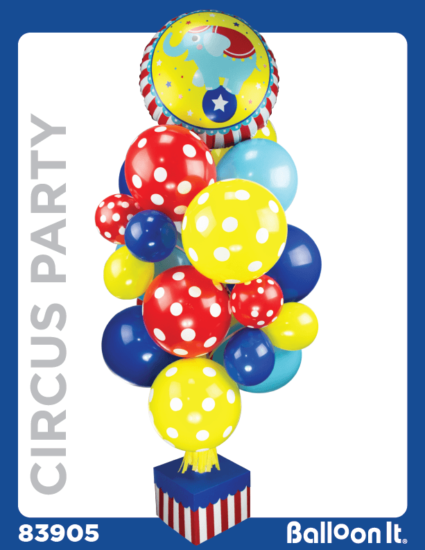 Circus Party Balloon It Bunch. All-in-one complete DIY Kit (1) - Balloon It