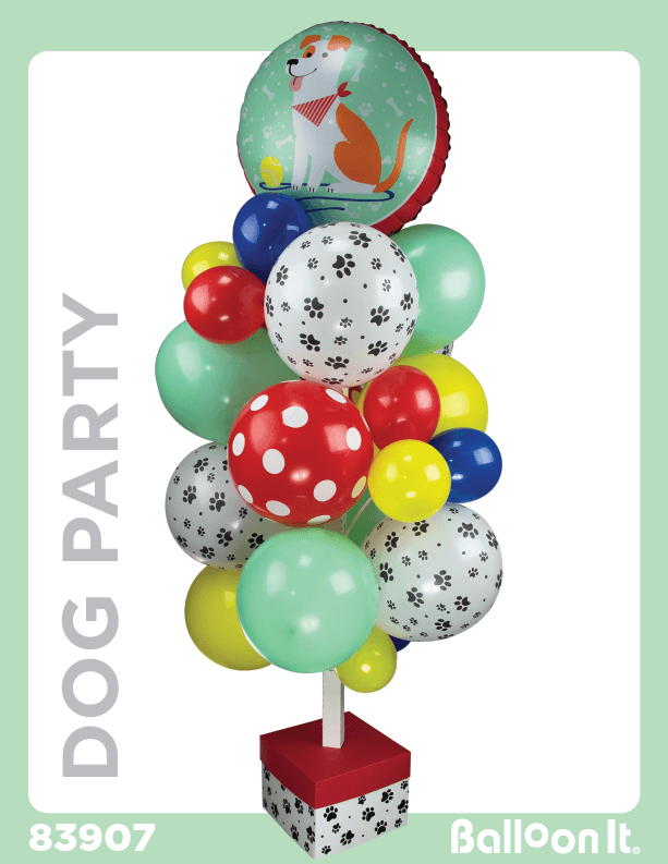 Dog Party Balloon It Bunch. All-in-one complete DIY Kit (1) - Balloon It