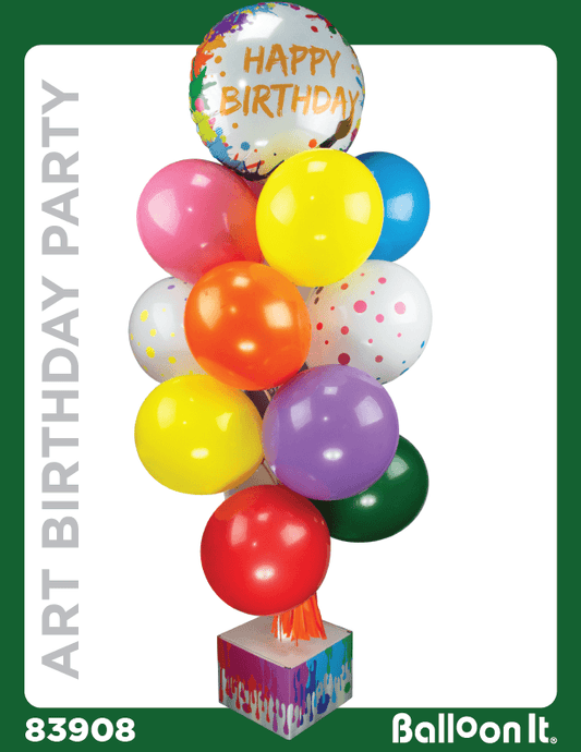 Art Birthday Party Balloon It Bunch. All-in-one complete DIY Kit (1) - Balloon It
