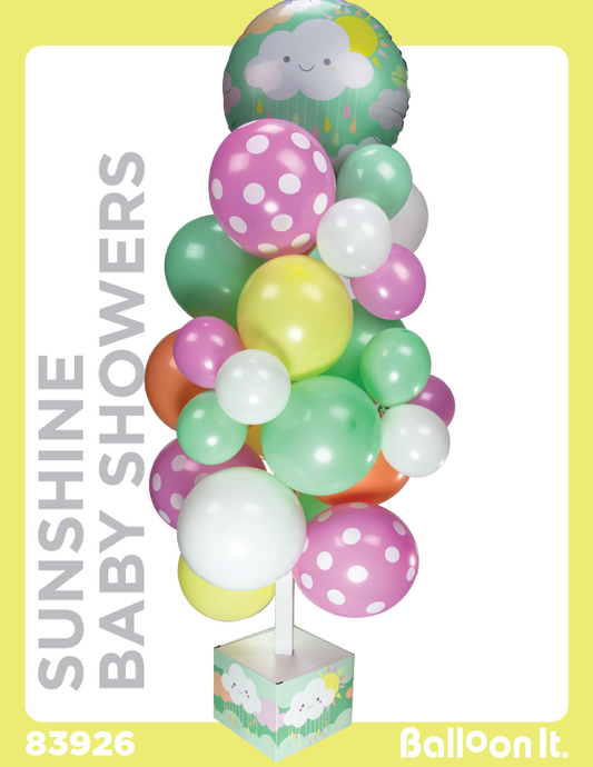 Sunshine Baby Showers Balloon It Bunch. All-in-one complete DIY Kit (1) - Balloon It