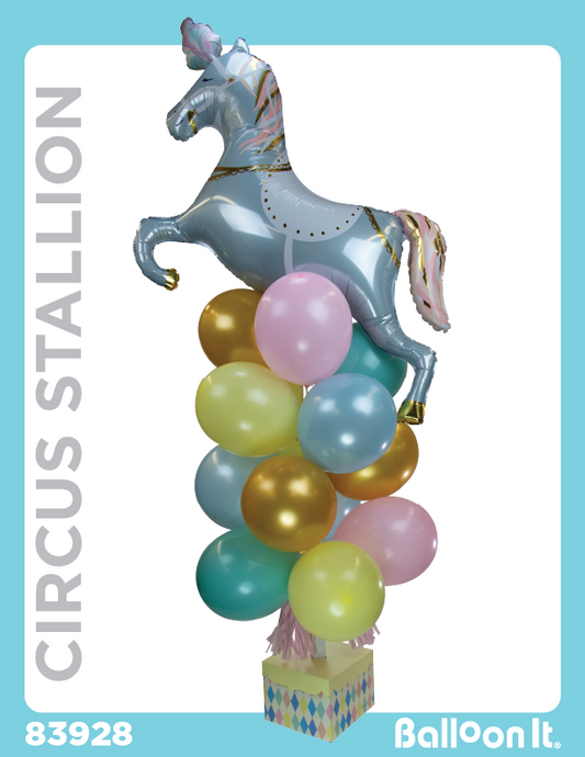 Circus Stallion Balloon It Bunch. All-in-one complete DIY Kit (1) - Balloon It