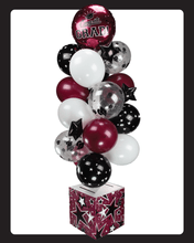 Load image into Gallery viewer, Burgundy and Black Graduation Card Box Bunch. All-In-One Complete DIY Kit.