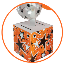 Load image into Gallery viewer, Orange and Black Graduation Card Box Bunch. All-In-One Complete DIY Kit.