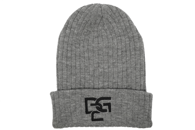 Men's Ribbed Beanie - Grey