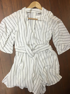 Chloe Striped Romper
