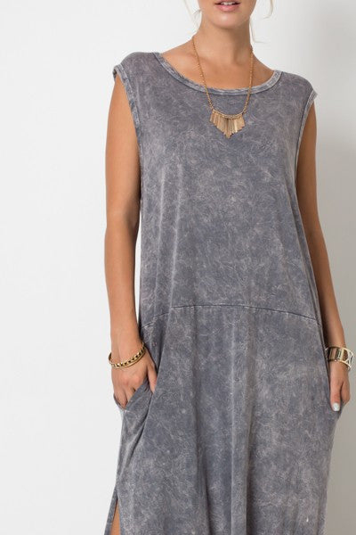 Distressed Slouchy Maxi