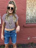 Americana Striped Crop