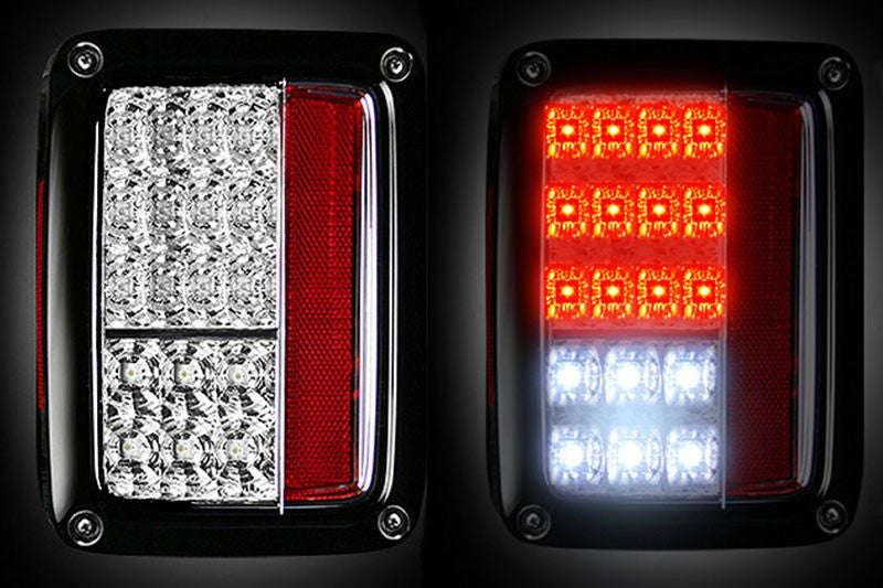 Recon 07 16 Jk Led Tail Lights Clear Lens