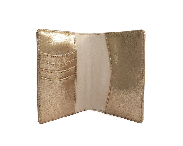 Babette Passport Case - Gold