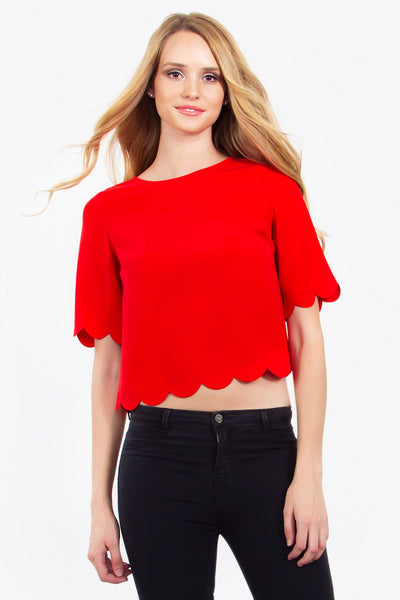 Scarlet Scallop Top