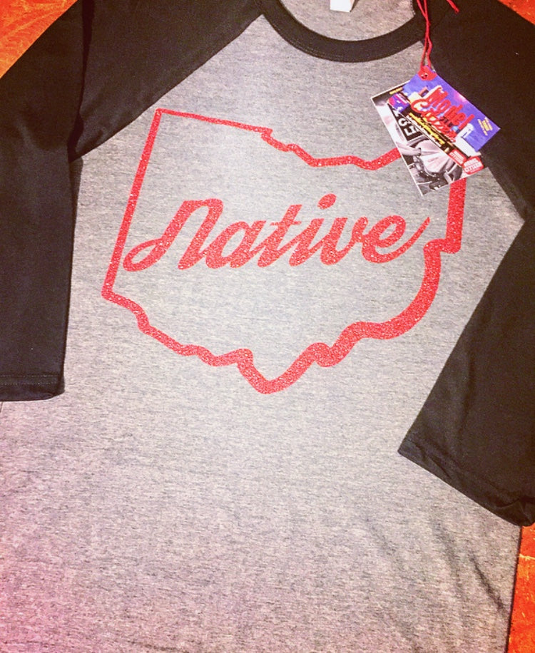 Ohio Native (Glitter) Raglan