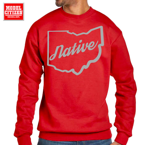 Native Ohio Crewneck - Red