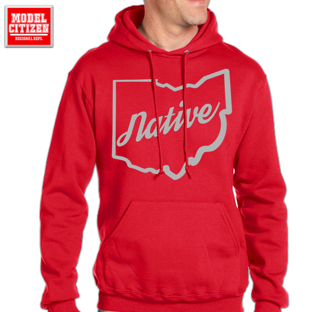 Ohio Native Hoodie - Red