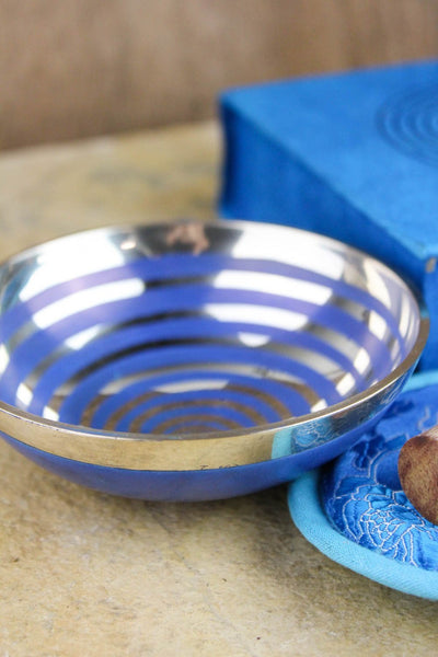 Singing Bowl - Blue Spiral Gift Set
