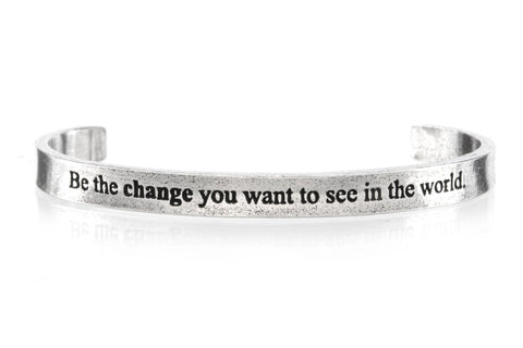Be The Change Cuff Bracelet