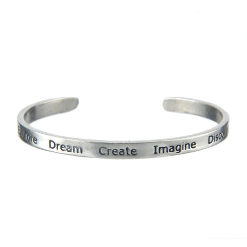 Dream Explore Create Cuff Bracelet