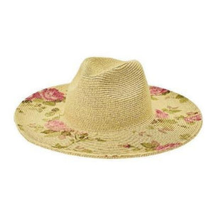 Ultrabraid Sun Hat With Printed Floral Trim