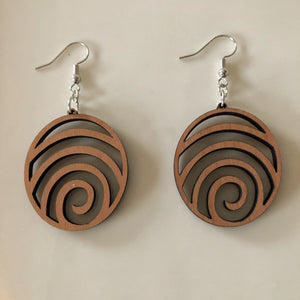 Handcrafted Woodcut Earrings