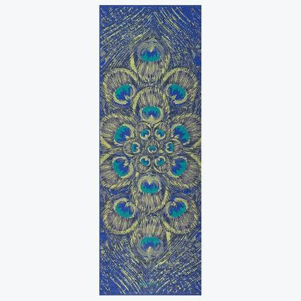 Premium Sapphire Feather Yoga Mat (6mm)