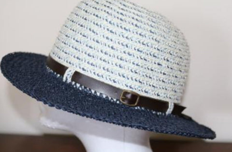 Mixed Braid Belted Fedora