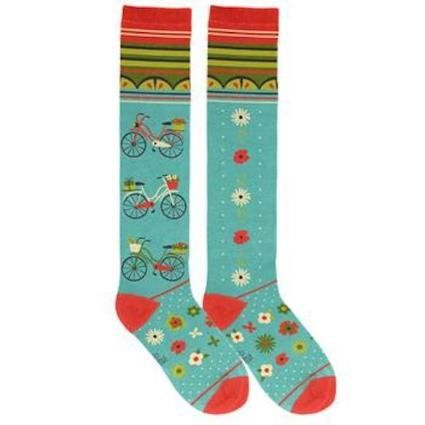 Knee High Socks Bicycles