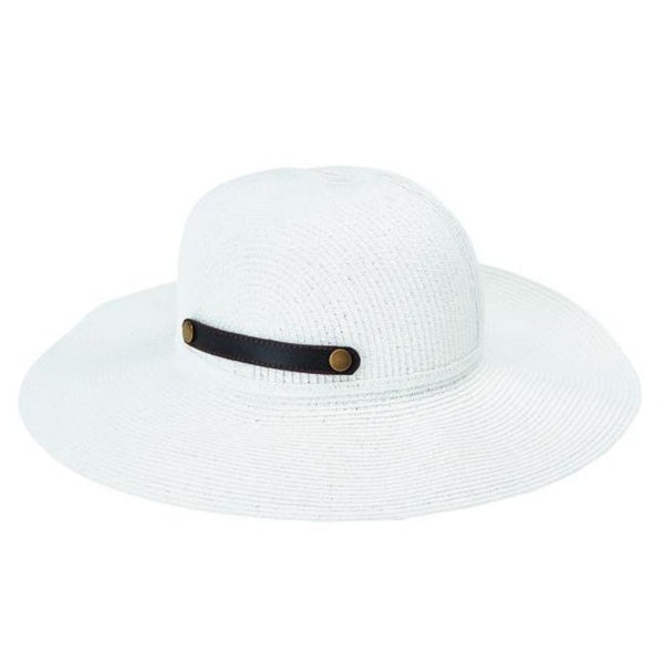 Ultrabraid Packable Sun Brim Hat with Faux Leather Snap Tab Closure UPF50+