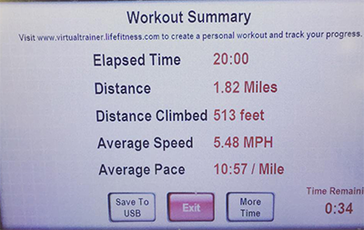 20 minute treadmill interval challenge