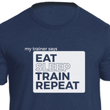Eat Sleep Train Repeat Fitness T-shirt