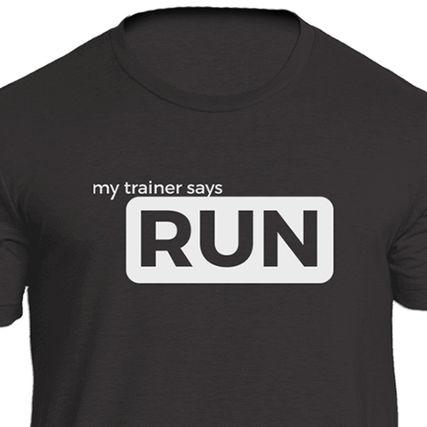 Run (white) Fitness T-Shirt