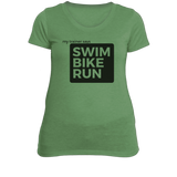 Women's Tees: My Trainer Says Swim Bike Run!