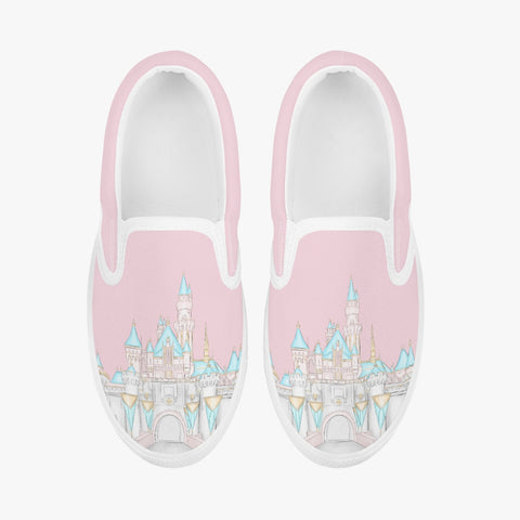 Kids Pink CA Castle Slip-On