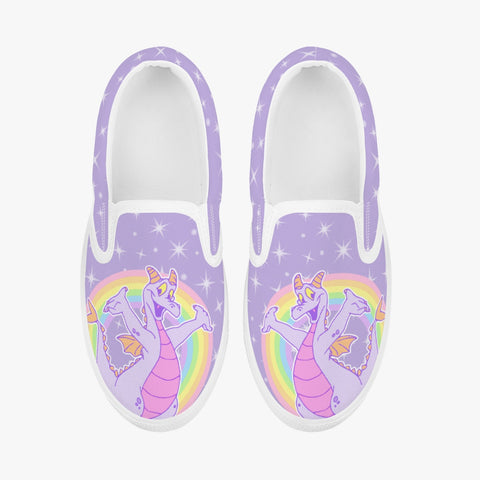Kids Purple Dragon Slip-On