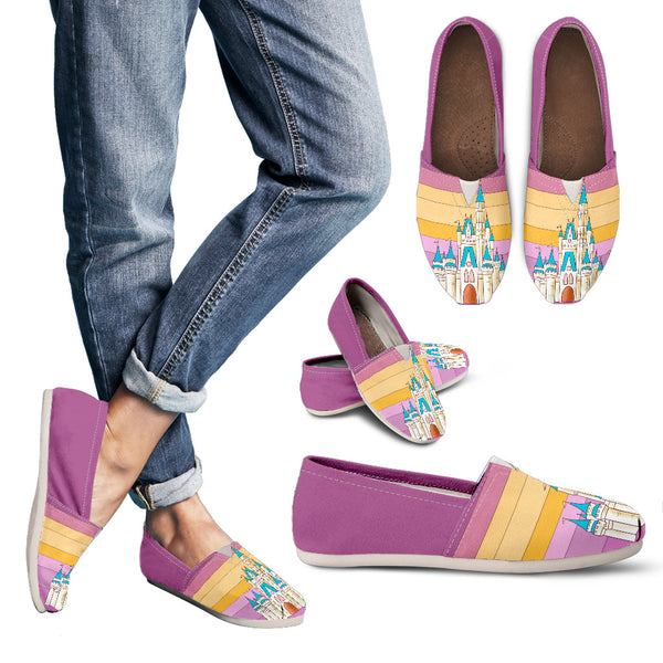 Plum Retro Casual Slip-On