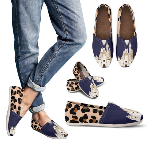 Blue Leopard Casual Slip-On